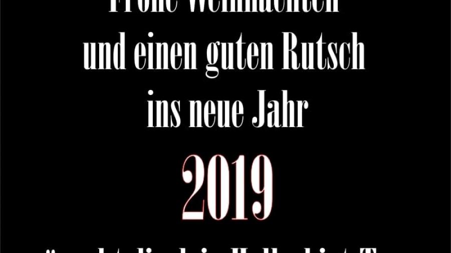 Frohe Weinhachten 2019